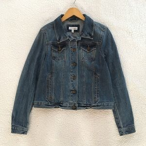 LOFT modern denim jacket in indigo wash